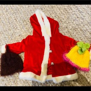 Other - Adorable Santa Coat & Beanie hats for Baby